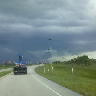Heavy afternoon storm rolling in over the Everglades